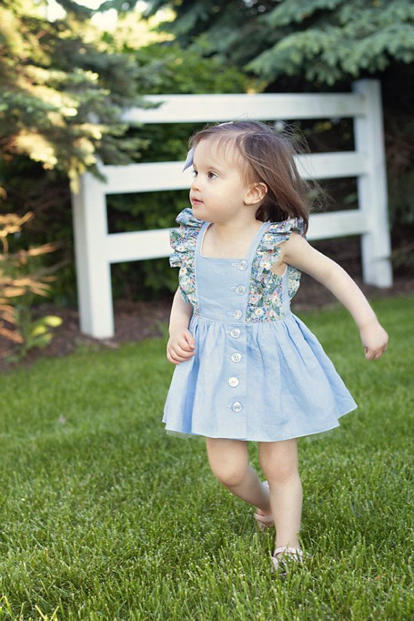 light blue baby Baker dress with short skirt