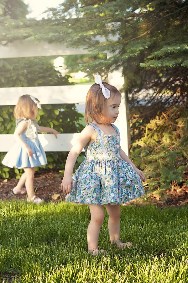 flower print baby Baker sleeveless dress