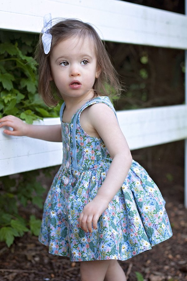 flower print baby Baker summer dress