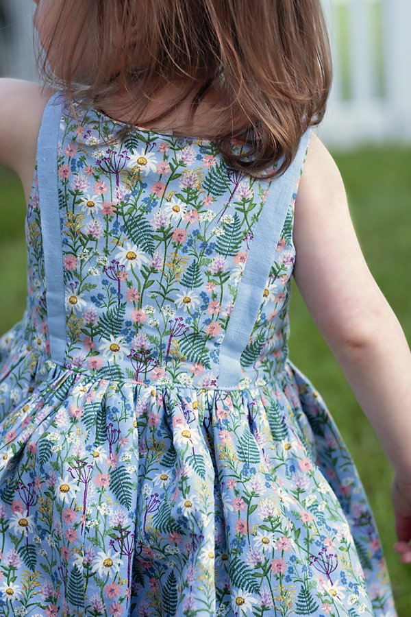 flower print Baker baby dress