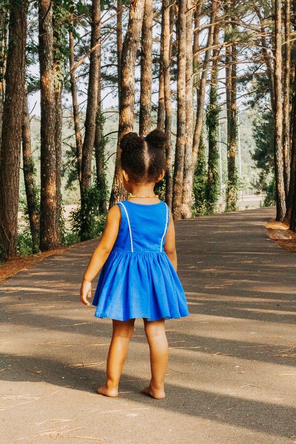 Baker baby dress blue