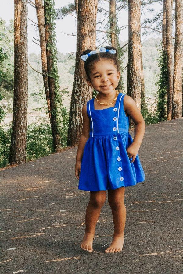blue Baker baby dress