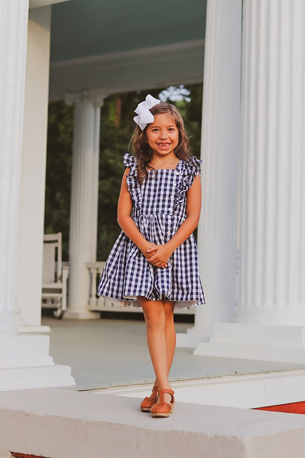 girls Baker dress black and white short skirt