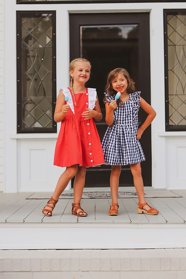 two different Baker dresses for girls
