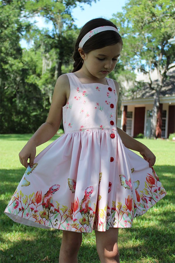girls Baker summer dress hem detail