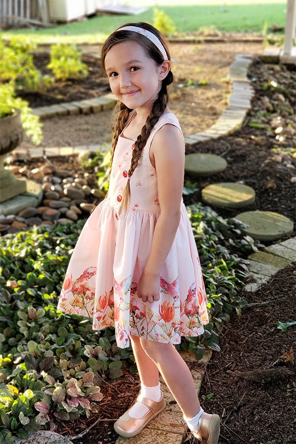 girls Baker sleeveless summer dress