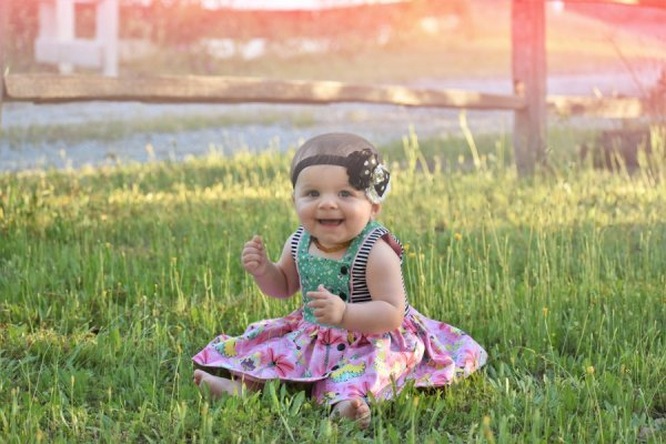baby Baker vintage dress with mixed prints