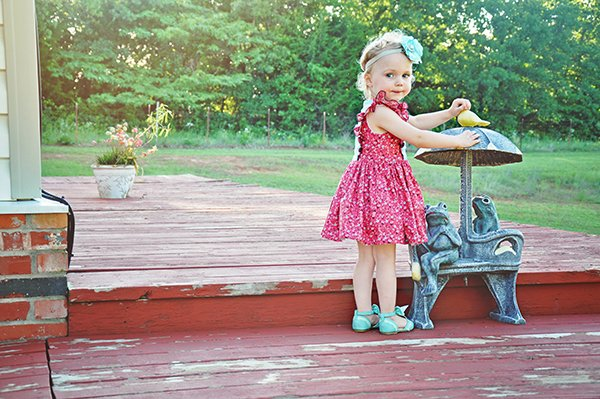 little girls Baker vintage dress