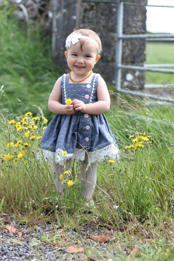 adorbs baby Baker vintage summer dress