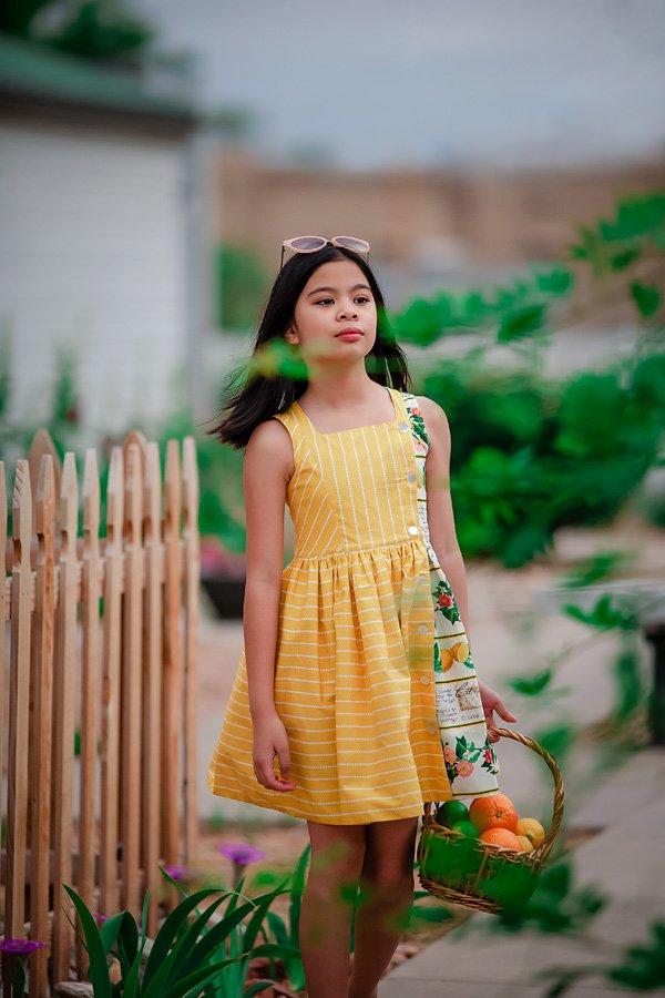 Baker girls dress yellow knee length skirt