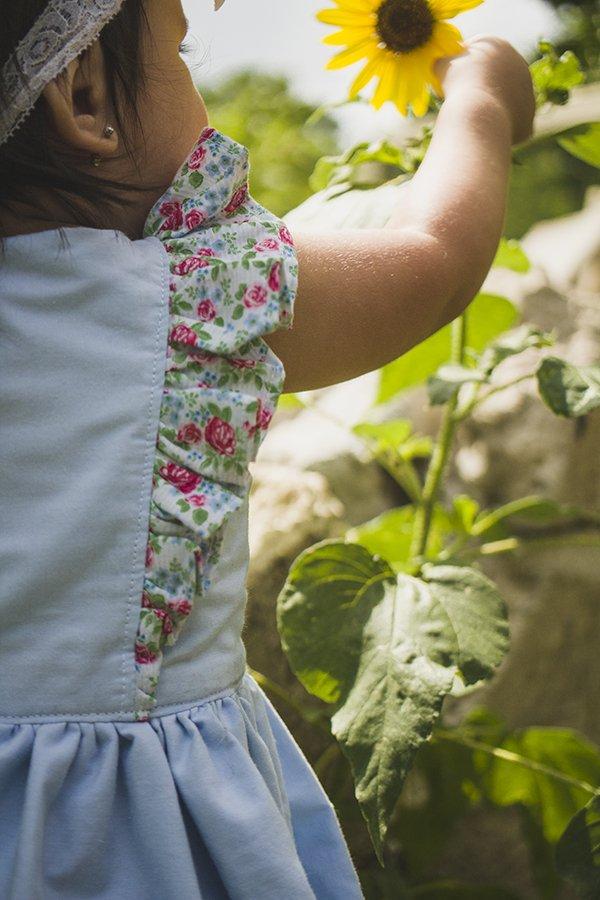 Baker vintage girls dress flutter detail