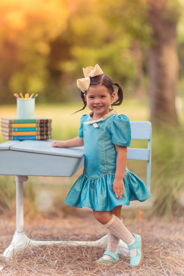 Falleyn vintage blue dress back to school
