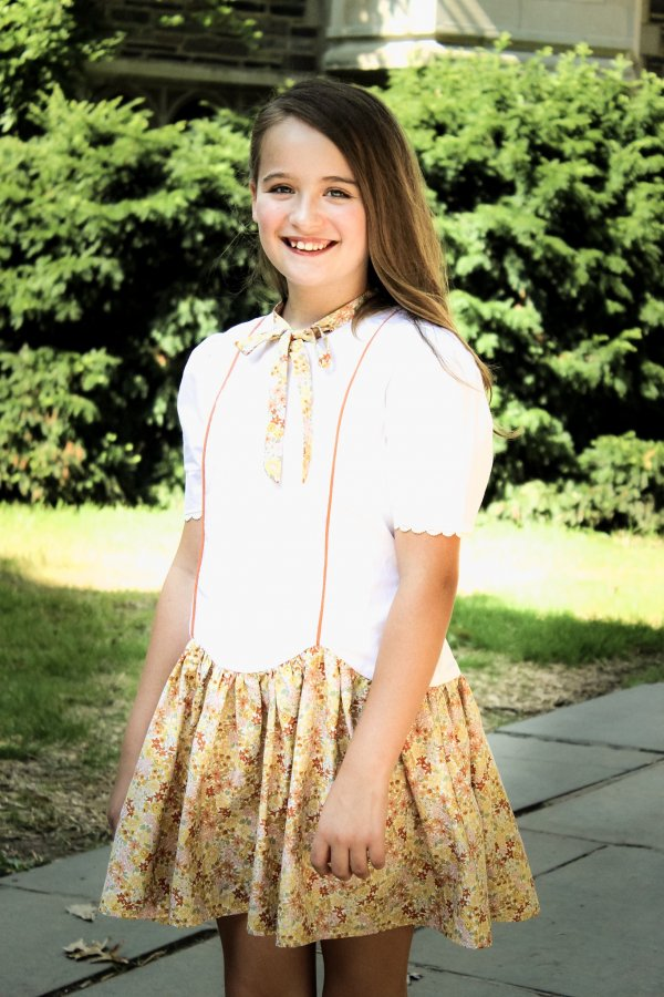 Falleyn tween white top flowered skirt