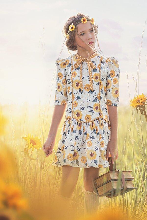 Falleyn girls sunflowers