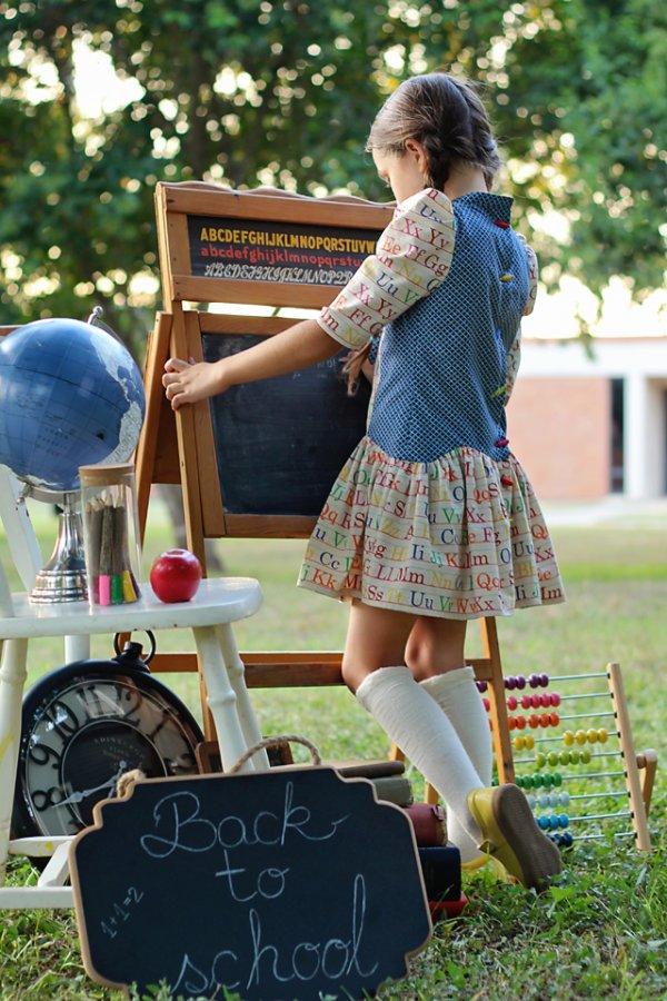 Falleyn vintage prints girls dress