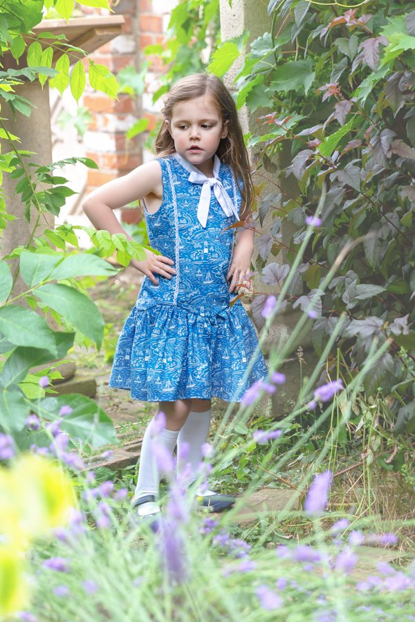 blue Falleyn childrens sleeveless dress