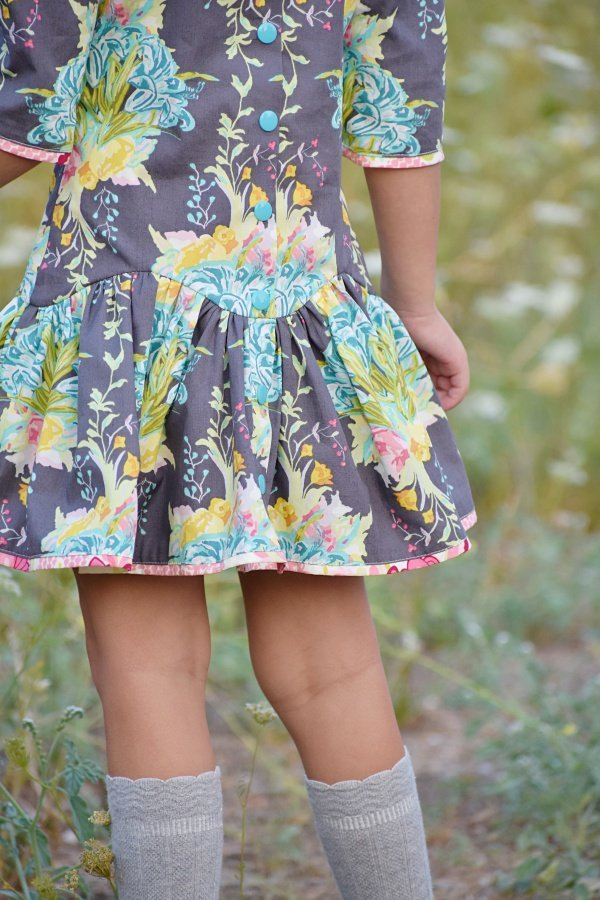 Falleyn flower print skirt back