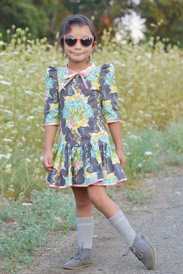 Falleyn vintage girls dress cool shades