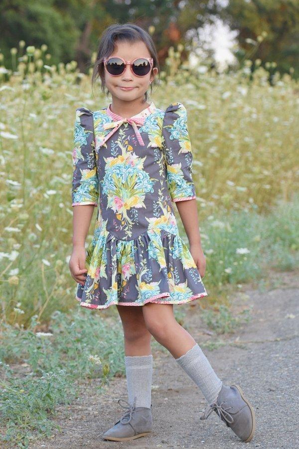 Falleyn vintage girls dress cool shades