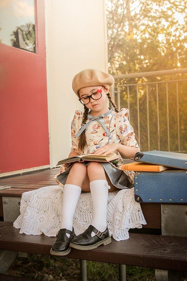 Falleyn childrens vintage print dress