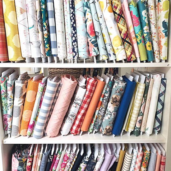 fabric organizing can be pleasing to the eye